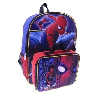 Spider-Man 16 in. Backpack with Lunch Box